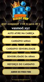 APK MOD Hack Regedit Kingshot VVIP (Auto Headshot) Free Fire