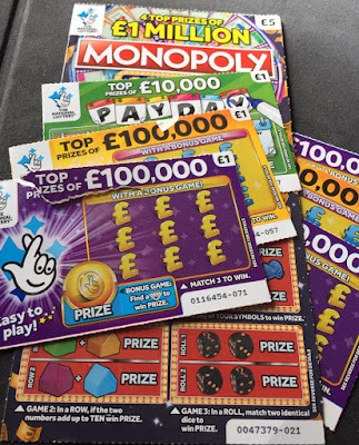 A Selection Of National Lottery Scratch Cards From April 2019