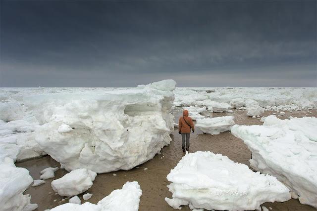 Um enorme pedaço de gelo