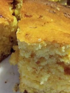 Homemade cornbread cast iron skillet