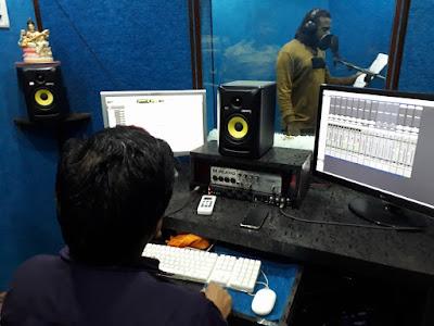 "Rap song recording ""Lala Mein Bihar Ka"""