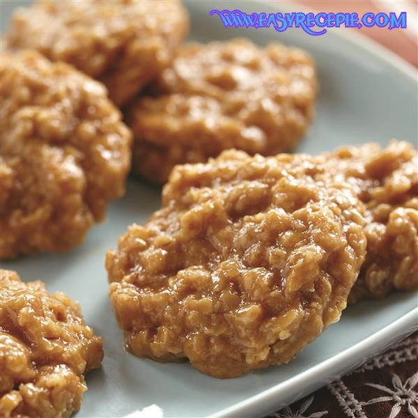 Healthy and Easy Peanut Butter no bake cookies recipe at home