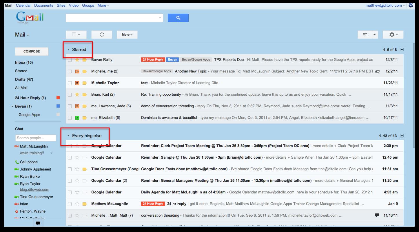 Gmail Inbox: Google For Work Premier Partner: Five Different