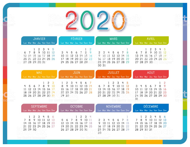 CALENDAR OF FRANCE HOLIDAYS YEAR 2020