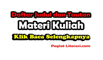 Kumpulan Materi Kuliah Ilmu Sosial