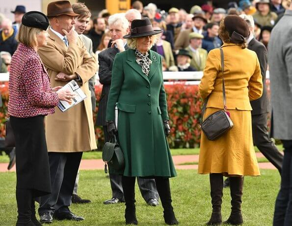 The Duchess of Cornwall, Princess Anne, Princess Royal. Zara Tindall wore Laura Green London Antonia angora wool coat