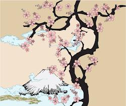 japanese sakura fuji japan drawing why traditional cherry blossom tree mountain inspired illustration temple