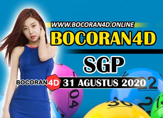Bocoran Misteri 4D SGP 31 Agustus 2020