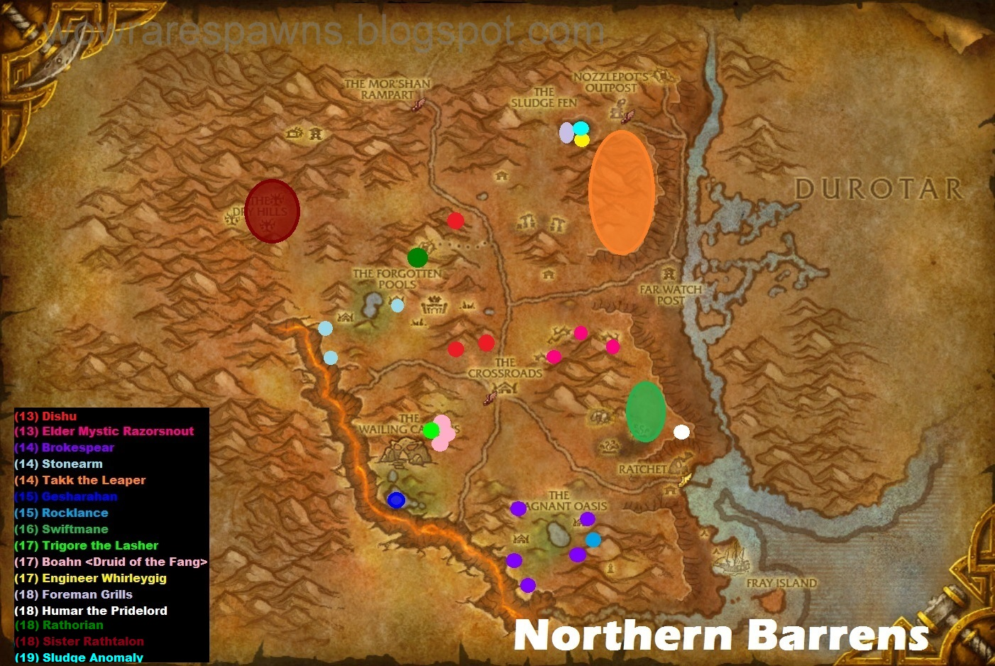 Map wailing caverns northern barrens rare spawn map publicscrutiny Image collections