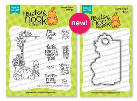 Signs of Fall Stamp Set & Die Set by Newton's Nook Designs #newtonsnook