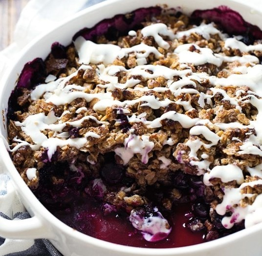 simple oat & pecan blueberry crisp #desserts #summerdessert