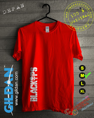 Baju Kaos DISTRO BlackOps Warna Orange