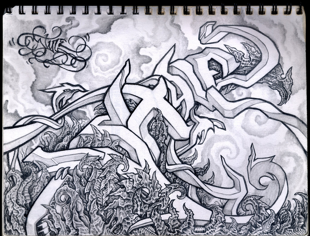 Cool Notebook Graffiti Art Right Shot In The Right Time