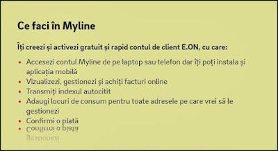 e.on myline autentificare sectiunea transmitere index contor