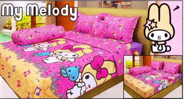 sprei internal motif kartun my melody