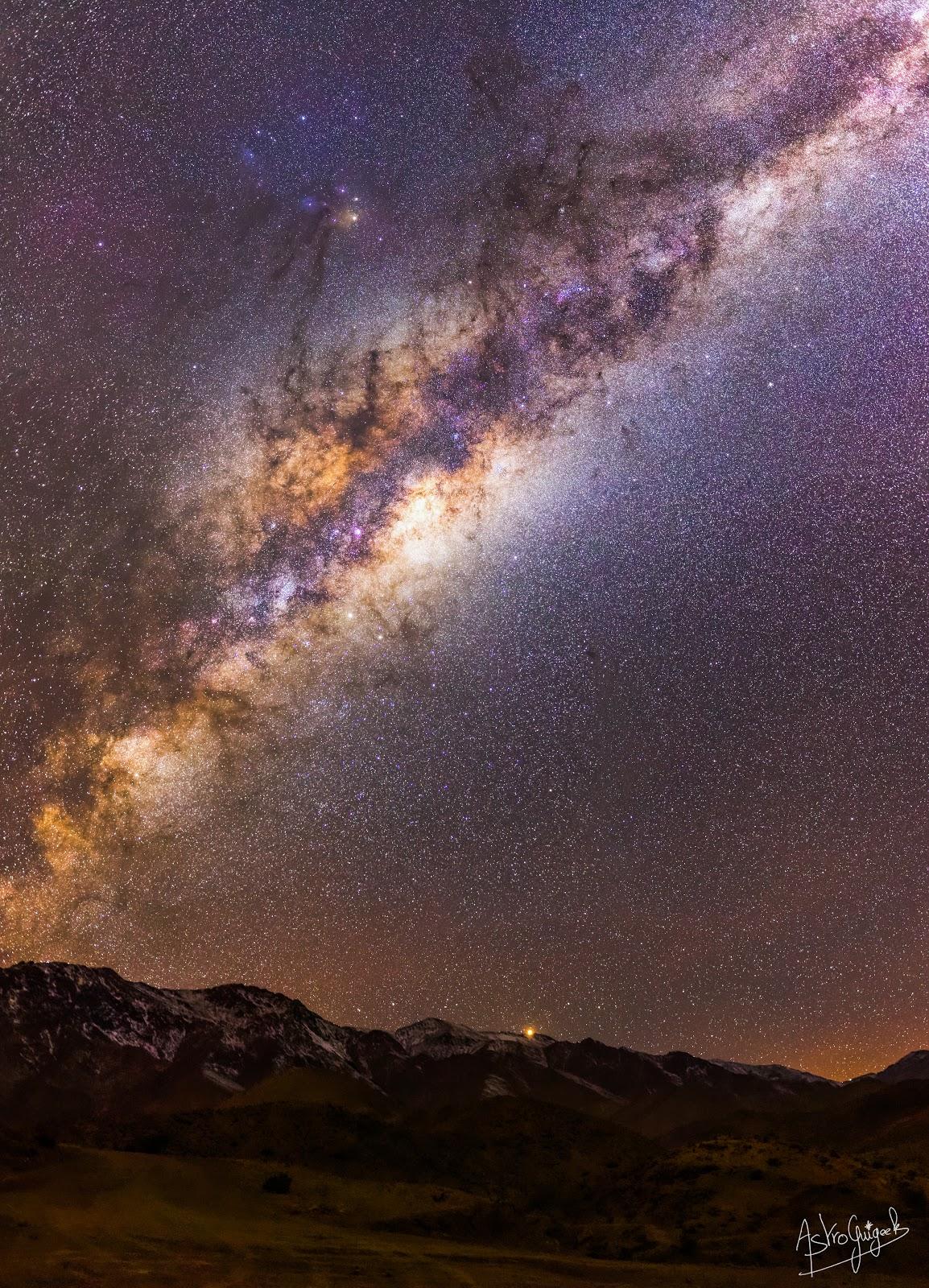 Lever de Mars au-dessus des Andes Chiliennes