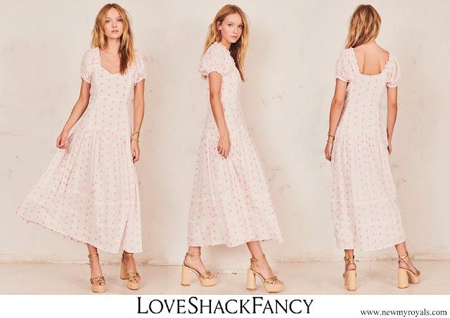Princess Madeleine wore LoveShackFancy Jeanette long cotton dress