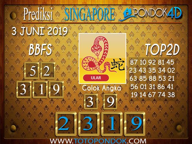 Prediksi Togel SINGAPORE PONDOK4D 03 JUNI 2019