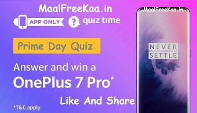 Prime Day OnePlus 7 Pro Free