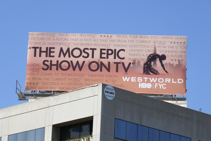 Westworld season 3 Emmy FYC billboard