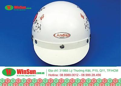 Mũ nửa đầu có kính - mũ bảo hiểm Winsun giá rẻ