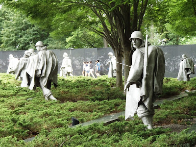 Korean War Veterans Memorial in Washington DC