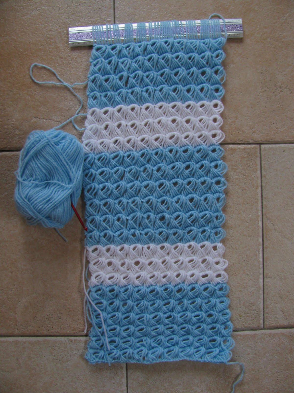 Hakencrochet Sjaal Aan Het Maken
