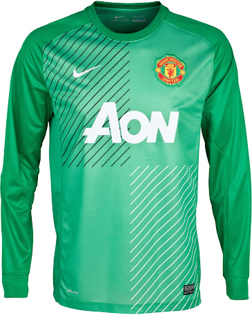 19472482ae3 The new Manchster United 2013-14 Goalkeeper Home Kit features the same  basic template as the new Barcelona 13-14 GK Home and Away Shirts. Man Utd  13-14 ...