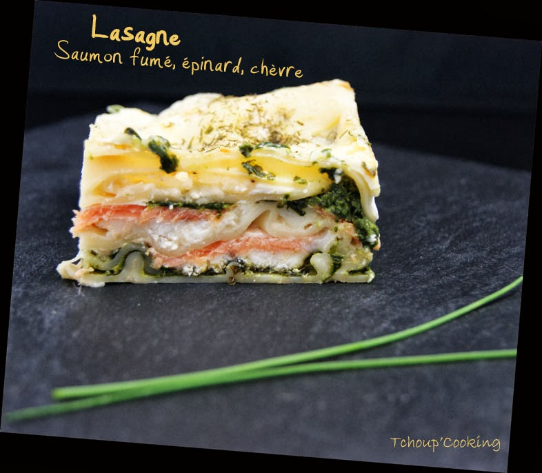 tchoup 39 cooking lasagne saumon fum pinards et ch vre. Black Bedroom Furniture Sets. Home Design Ideas