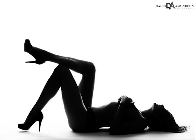 Denver boudoir photography silhouette