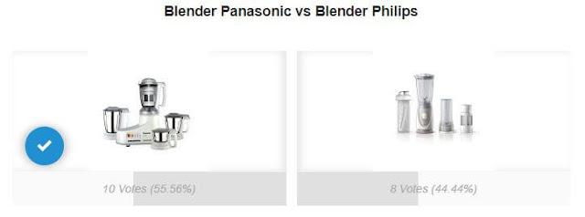 Perbandingan Blender Philips dan Panasonic