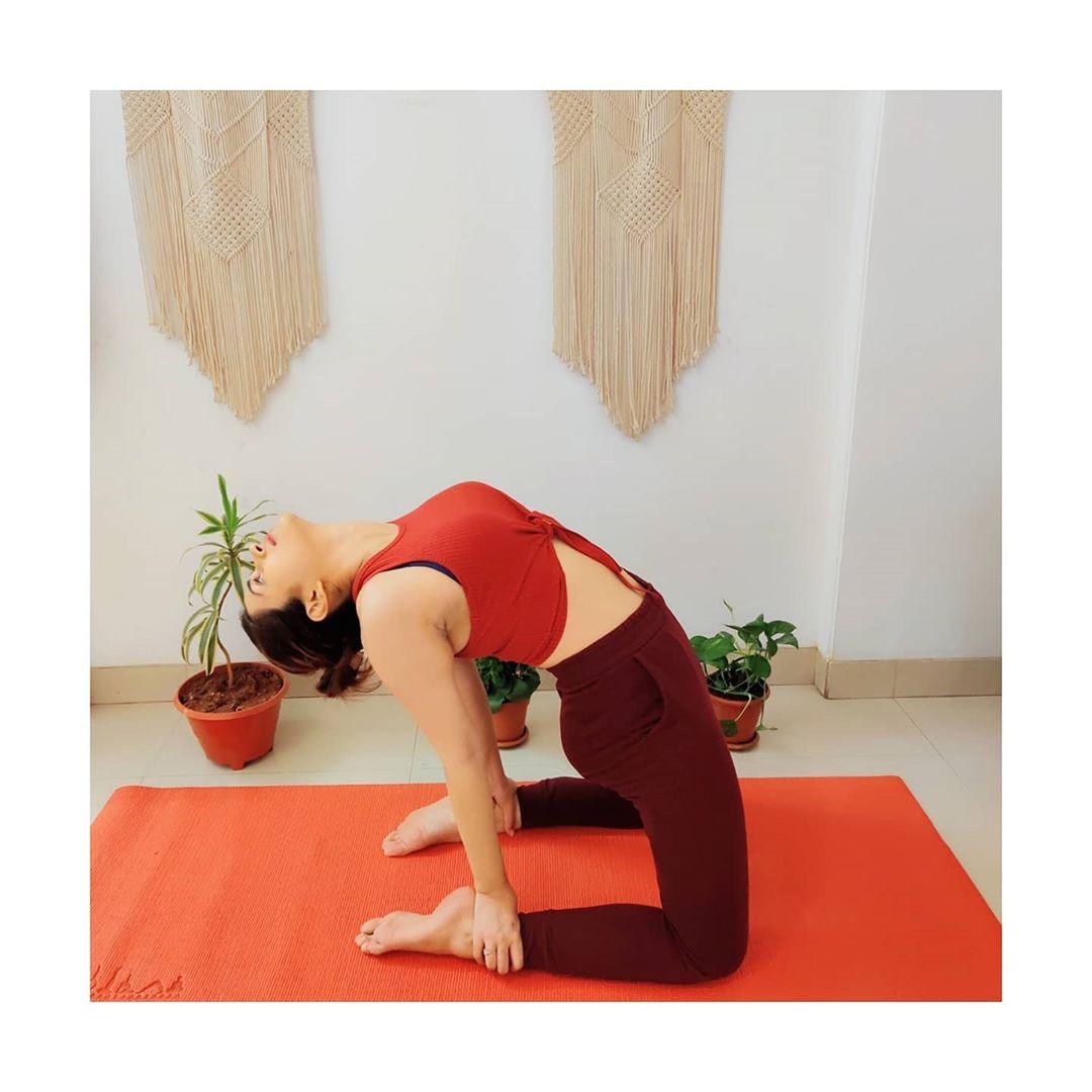 coronavirus-fear-Shraddha-Das-Yoga-Photos