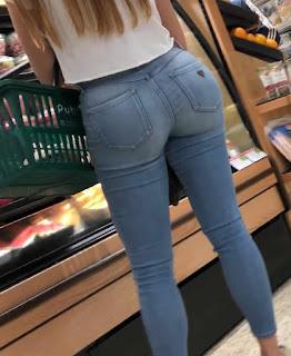 Linda chica lindas caderas jeans