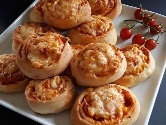 Házi pizzás csiga, finom puha kelt tésztával! Mindig jól sikerül