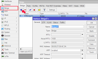 Konfigurasi Interface Bridge Melalui Winbox