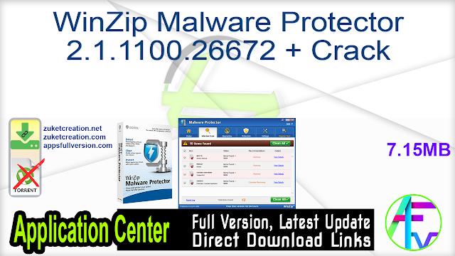 WinZip Malware Protector 2.1.1100.26672 + Crack