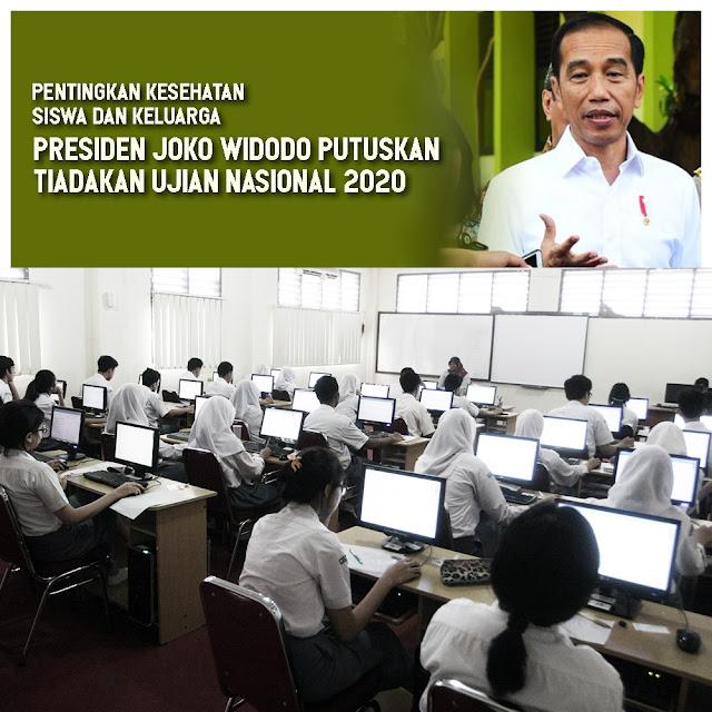 Presiden Joko Widodo Tiadakan Ujian Nasional 2020