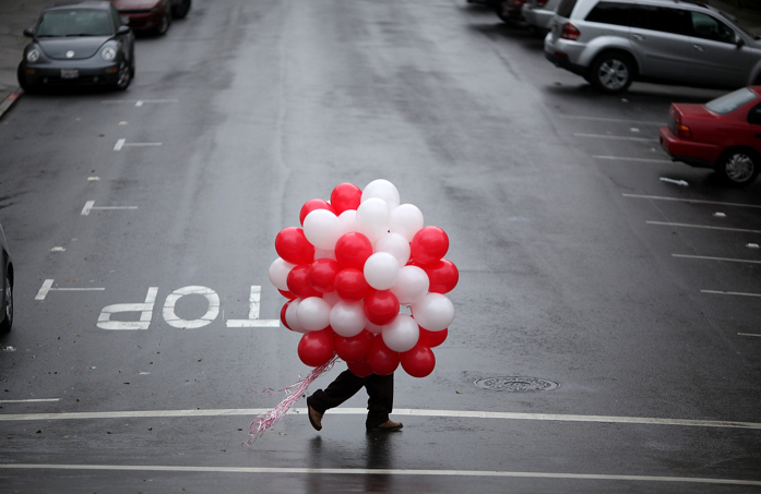 A balloon bouquet for Valentines Day
