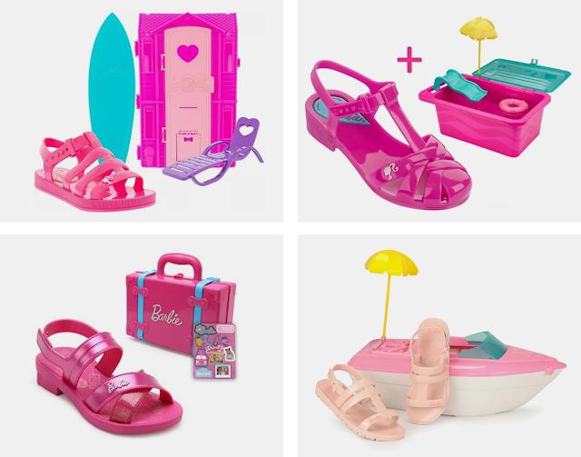 brinquedos da Barbie que vem com calçados