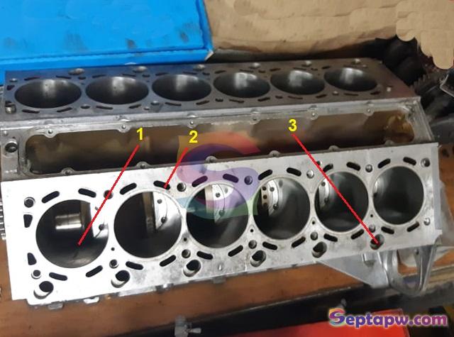 komponen mesin mobil, cylinder block