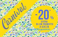 Logo Pittarello promozione ''Carnival'': - 20% di sconto extra su un prodotto a scelta