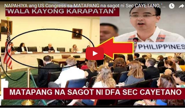 WATCH | NAPAHIYA ang US Congress sa MATAPANG na sagot ni Sec CAYETANO, 'Wala kayong karapatan'