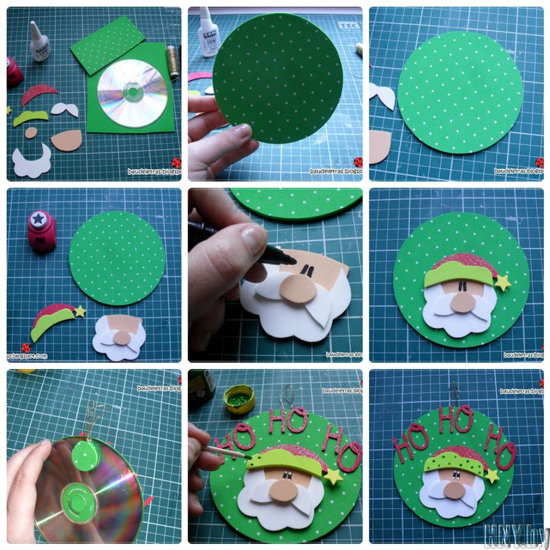 15 hermosos adornos navide os realizados con cds for Cd reciclados decoracion