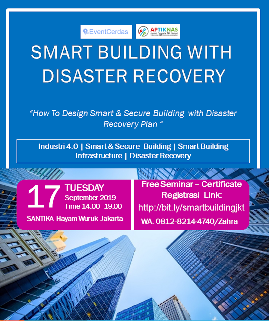 Seminar Smart Building with Disaster Recovery 17 Sep 2019