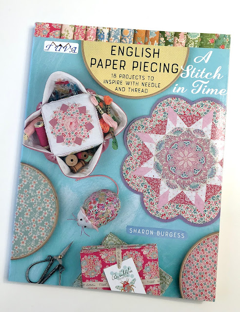 A Stitch In Time english paper piecing book by Sharon Burgess Tuva Publishing