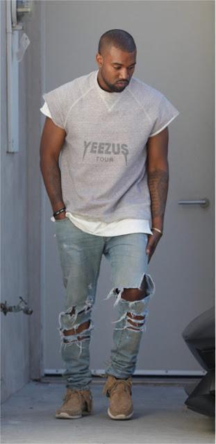 Kanye West vestindo uma Peça nessa pegada Sleeveless Oversized.