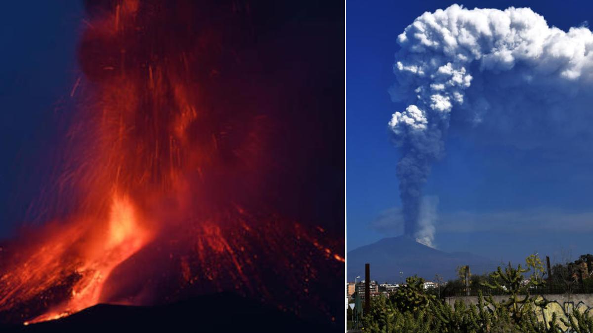 Attività Etna nube 7 km Vulcano più attivo al mondo