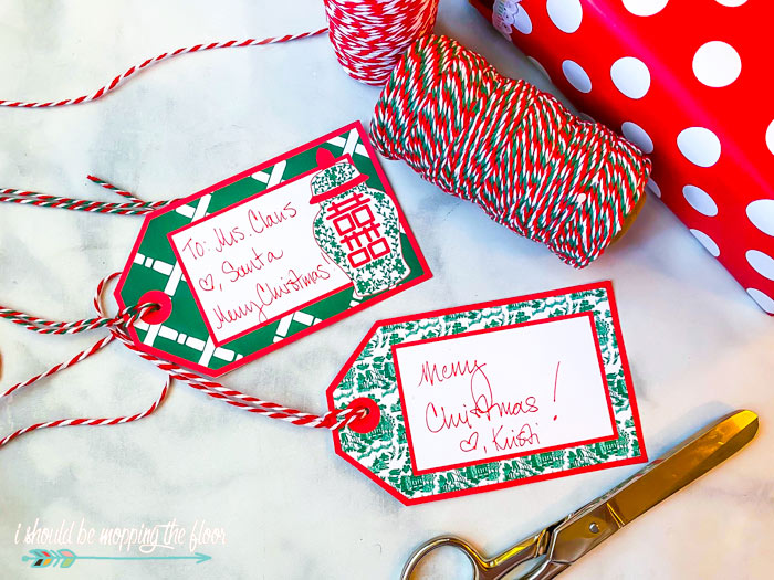 Preppy Christmas Gift Tags