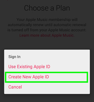 pendaftaran apple music di android