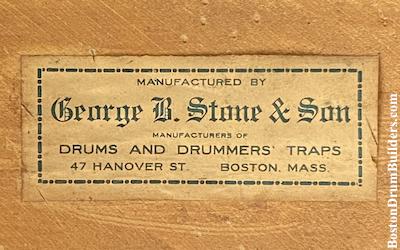 Stone & Son Drum Label, circa mid to late 1910s
